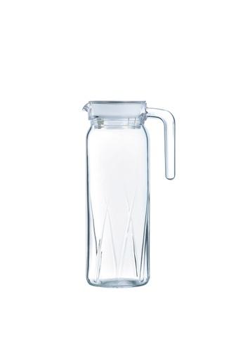 Luminarc Luminarc 1000ML Dona Glass Jug with Lid / Fridge Jug / Glass Pitcher / Glass Jug / Juice Pitcher - Ray 1DAA9HL3DB0884GS_1