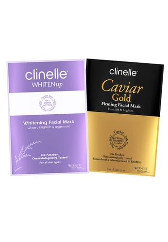 Clinelle Skin Care: Clinelle [Official] CaviarGold Firming Mask (1 Sheet) + WhitenUp Whitening Facial Mask (1 Sheet) CL708BE98KHTMY_1