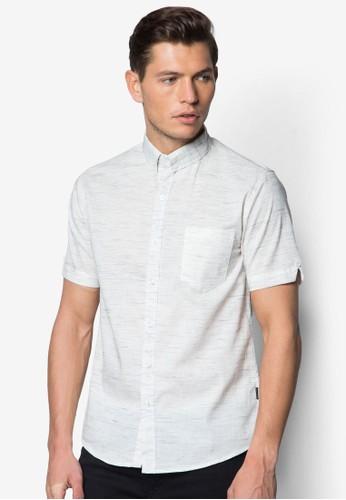 細esprit台灣紋短袖襯衫, 服飾, 襯衫