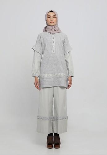 Anggiasari Mawardi grey Satvika Blouse by Anggia Handmade B3131AA6079B5AGS_1