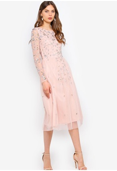 141cb349230e 30% OFF Frock and Frill Gala Long Sleeve Embellished Midi Dress HK$  1,829.00 NOW HK$ 1,278.90 Sizes 6 8 10 12 14