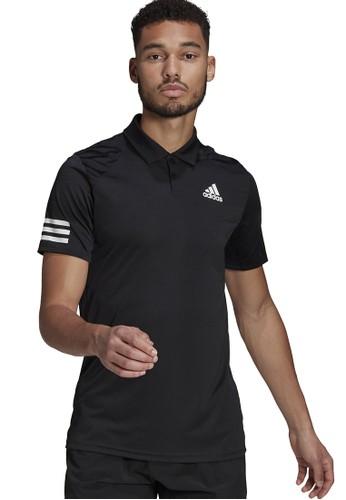 ADIDAS black club 3-stripe tennis polo shirt 6EC10AAEAFFF1DGS_1