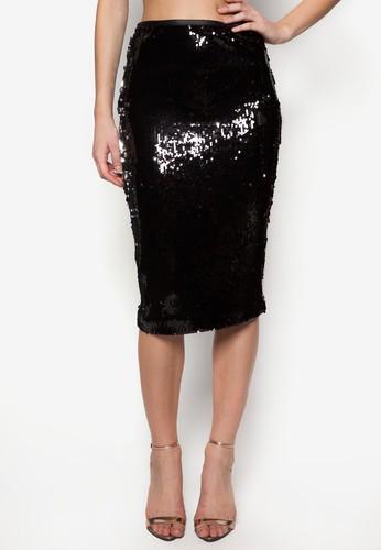 亮片鉛zalora taiwan 時尚購物網鞋子筆裙, 服飾, 服飾