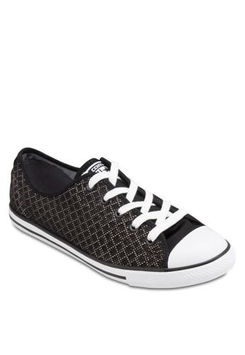 Chuck Taylor Aesprit hong kong 分店ll Star 撞色鞋帶網眼休閒鞋, 女鞋, 鞋