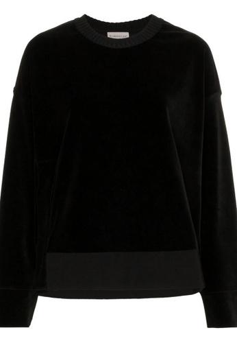 Moncler black Moncler Maglia Sweatshirt in Black F931FAA9D87BCBGS_1