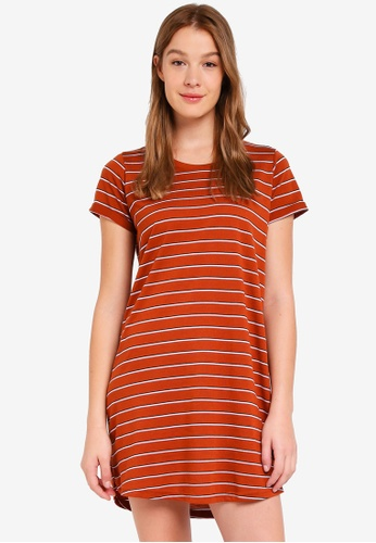 Cotton On orange Tina T-Shirt Dress 7AC0AAABCA1AD7GS_1
