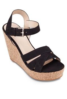 Cross Strap Wedge Sandals