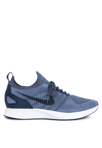 Nike white and blue Men's Nike Air Zoom Mariah Flyknit Racer '18 Shoes D4981SH4D2D209GS_1