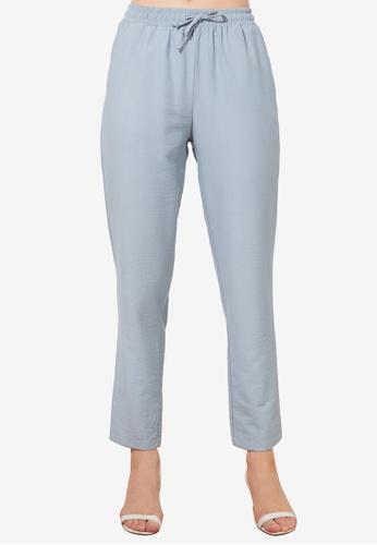 Trendyol blue Tencel Trousers 2FABDAA0F8E7C7GS_1
