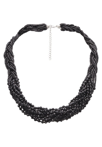 Red's Revenge black Intertwined Black Crystal Collar Necklace RE144AC0S0U9MY_1