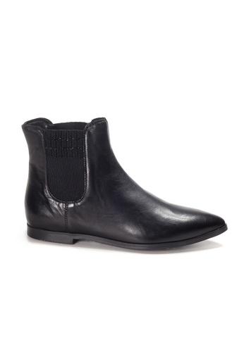 Shu Talk 黑色 LeccaLecca 高貴平底尖頭中靴 D9339SH085C59DGS_1