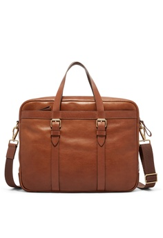 fd57edd92d32 Fossil brown Haskell Brief Case MBG9393222 4E93EACF3E760AGS 1