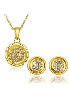 Eleonor 18K Gold Plated Necklace & Earrings Set