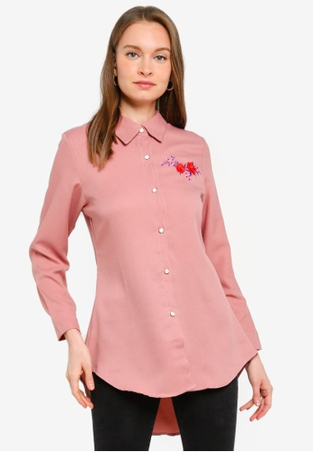 BYN pink Basic Shirt With Embroidery 50AA1AA14F6910GS_1