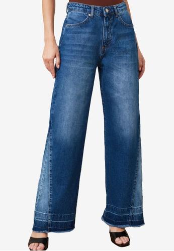 Trendyol blue High Waist Wide Leg Jeans BF3C1AAB2DC269GS_1