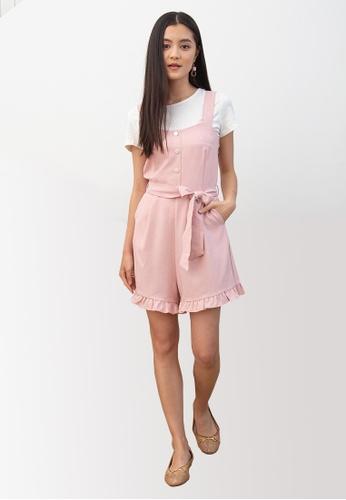 L'zzie pink LZZIE ISABE TWO-PCS DRESS - PINK 2DA63AA6B25130GS_1