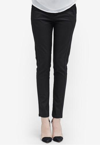 Hopeshow black Slim Fit Long Pants 00542AA9066F60GS_1