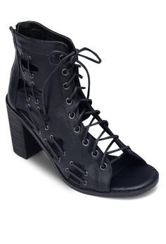 Jenner Lace Block Heels