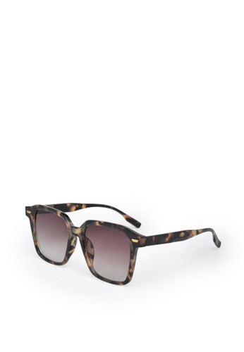 9 to 12 brown Square Sunglasses Kacamata Unisex [2193] EB07FGL0A2DEC8GS_1
