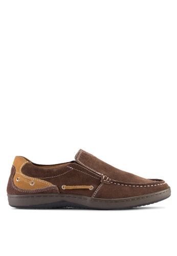 Knight brown Knight Boat Shoes KN875SH99OMEMY_1