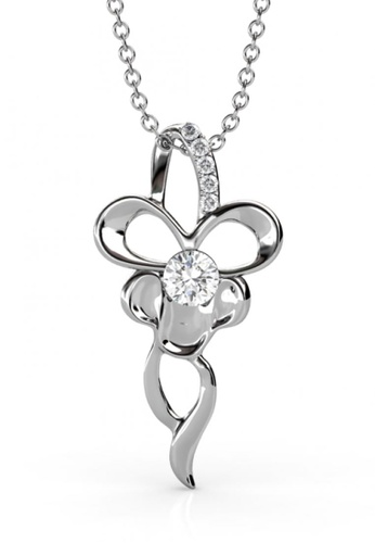 Her Jewellery white Her Jewellery Butterfly Silver Pendant embellished with Crystals from Swarovski 447CEAC4609F2AGS_1