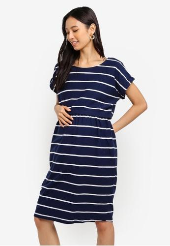 81826b622541f JoJo Maman Bébé navy Summer Breton Maternity And Nursing Dress  EA2B5AA2DC02E7GS_1