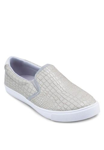 暗紋仿皮懶zalora 泳衣人鞋, 鞋, 懶人鞋
