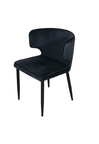 Joy Design Studio Susie Chair Velvet Black 01085HLDD5531CGS_1