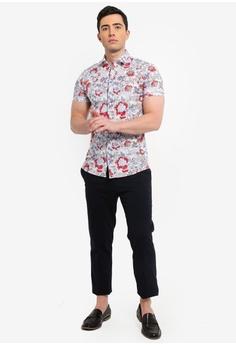 Topman White Floral Rose Shirt RM 169.00. Sizes XXS XS S M L