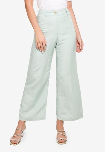 Forever New green Indigo Wide Leg Linen Pants 6D082AA707B1DAGS_1