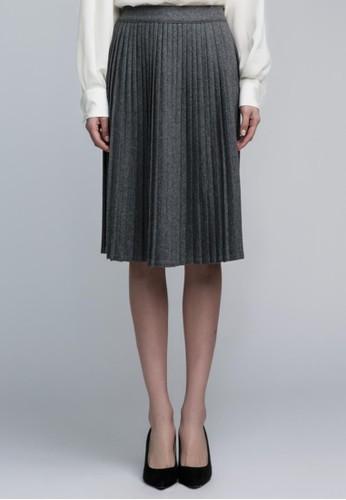 羊毛百褶裙, 服飾, 及膝esprit taiwan裙