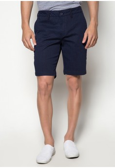 Men's Walk Short with Texture Print