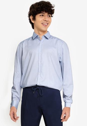 BOSS 藍色 Eliott Shirt - BOSS Men B4E61AAE75E66DGS_1