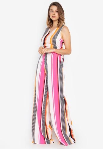 Josie pink Stripe Jumpsuit 09BFCAA5C9CF14GS_1