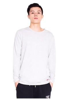 Reoparudo-兩件裝 RPD 品牌純色長袖T恤(灰色)