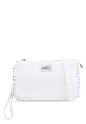 a95eab0fec Playboy Bunny white Studded Clutch Bag 778E6AC56D058EGS 1