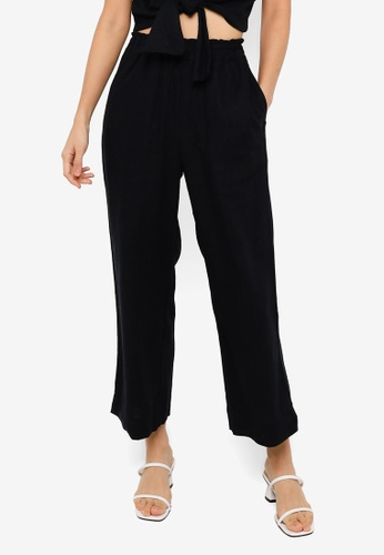 Abercrombie & Fitch black Linen Pull On Trousers 03D19AA870F6A3GS_1