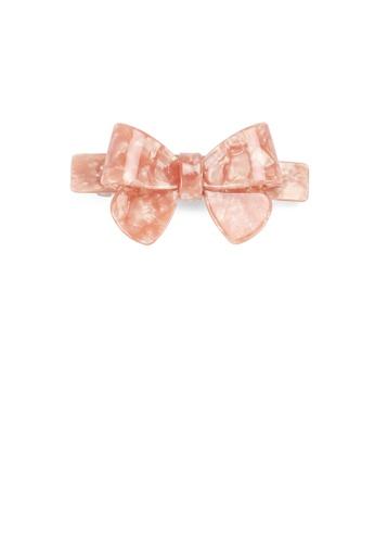 Glamorousky silver Fashion Simple Pink Ribbon Large Hair Slide 51788ACF7ACF91GS_1