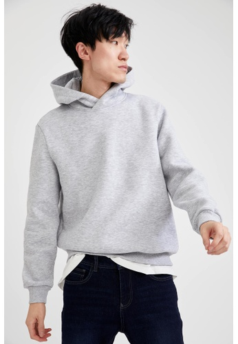 DeFacto grey Man Knitted Sweat Shirt 3B942AAF1E9DBCGS_1