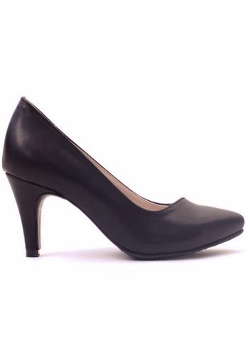 Crystal Korea Fashion 黑色 韓國製新款小尖頭高跟鞋 1AB0BSHEEB6B15GS_1