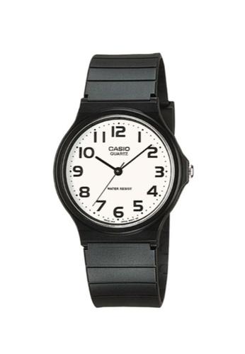 Casio black Casio Men's Analog MQ-24-7B2LDF Black Resin Band Casual Watch CA347AC68MZRID_1