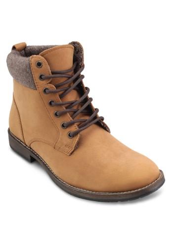 Salute 羊毛口皮革短靴、 鞋、 鞋TopmanSalute羊毛口皮革短靴最新折價