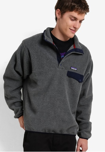 Patagonia grey Lightweight Synch Snap-T Pullover PA549AA06XABMY_1