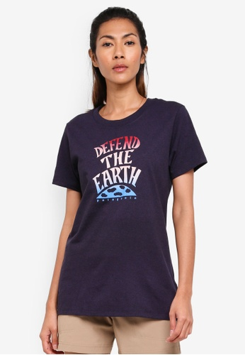 Patagonia purple Defend The Earth Responsibili-Tee PA549AA0SVNRMY_1
