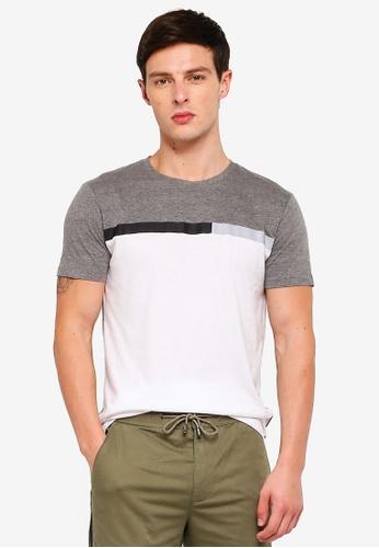 ESPRIT 灰色 短袖T恤 E3D10AAACEDD18GS_1