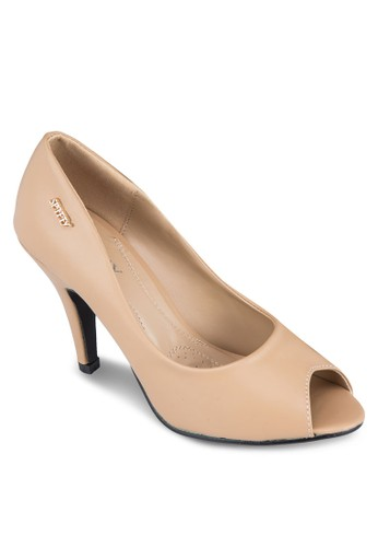 燙金魚口高跟zalora 包包 ptt鞋, 女鞋, 厚底高跟鞋