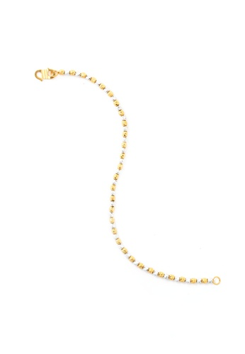 TOMEI gold TOMEI Spherical Jollity with Pizzazz Bracelet, Yellow Gold 916 (BB832-2C) 85C04ACC498AF7GS_1