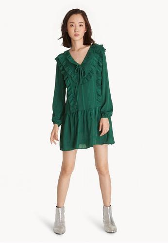 Pomelo Green Mini Ruffle Dress 4afd8aa50273a9gs 1