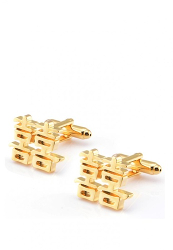 Kings Collection gold Chinese Traditional Wedding Word Cufflinks 0FBAEACB36DFE6GS_1