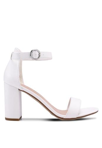 Dorothy Perkins white White Shimmy Block Sandals 596F5SH0E673F1GS_1